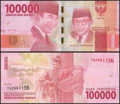 Indonesia 100,000 Rupiah Banknote, 2016, P-160, USED