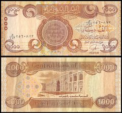 Iraq 1,000 Dinars Banknote, 2003-2013, P-93a, USED