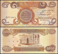 Iraq 1,000 Dinars Banknote, 2010 - AH1434, P-93d, Replacement, UNC