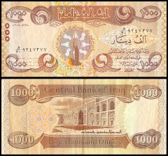 Iraq 1,000 Dinars Banknote, 2018, P-NEW, USED