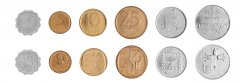 Israel 1 Agora - 1 Lira 6 Pieces Coin Set, 1971, KM # 24 - 47, Mint, In Acrylic Holder