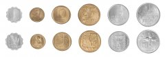 Israel 1 Agora - 1 Lira 6 Pieces Coin Set, 1972, KM # 24 - 47, Mint, Booklet