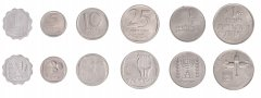 Israel 1 Agora - 1 Lira 6 Pieces Coin Set, 1973, KM # 24 - 47, Mint, In Acrylic Holder