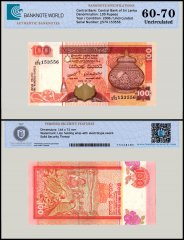 Sri Lanka 100 Rupees Banknote, 2006, P-111, UNC, TAP 60 - 70 Authenticated
