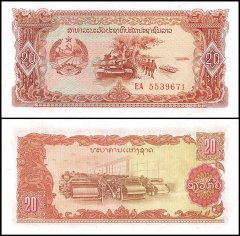 Laos 20 Kip Banknote, 1979, P-28, UNC, Replacement