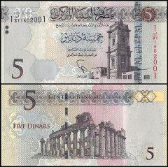 original banknotes 2004 P-70 Libya Lybien 10 Dinars UNC