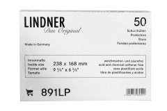Lindner Plastic Currency - Banknote Sleeve, 238 X 168 mm - 9.37 X 6.61 Inches, 891LP, 50 Pieces PCS - Accessories