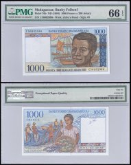 Madagascar 1,000 Francs, ND 1994, P-76b, PMG 66