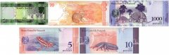 Mixed Countries 5 Pieces Other Banknote Set, UNC