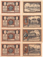 Bruhl 1 - 5 Mark 4 Pieces Notgeld Banknote Set, 1922, Mehl #192.1b, UNC