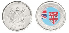 Fiji 50 Cents 6.50 g Nickel Plated Steel Coin, 2020, Mint