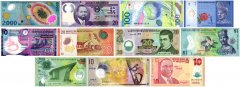 New Age Polymer Collection, 11 Piece Banknote Set, Version 2, UNC