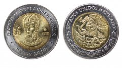 Mexico 5 Pesos Coin, 2010, KM # 925, Mint, Bicentenary Independence, Vicente Guerrero