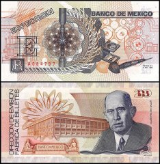 Mexico Test Note, Proof, Specimen, 1989, UNC, 20th Anniversary of Factory, Dedication to Don Gomez