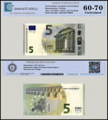 European Union - Austria 5 Euros Banknote, 2013, P-20n, UNC, TAP 60 - 70 Authenticated