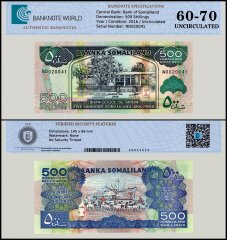 Somaliland 500 Shillings Banknote, 2016, P-6a, UNC, TAP 60 - 70 Authenticated