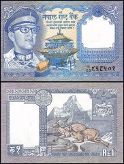 Nepal 1 Rupee Banknote, 1974, P-22a, UNC