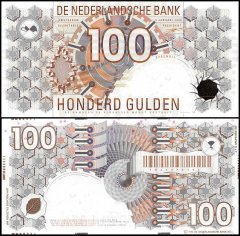 Netherlands 100 Gulden Banknote, 1992, ND 1993, P-101, UNC