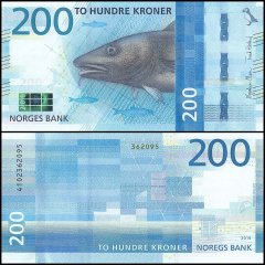 Norway 200 Krone Banknote, 2017 - 2016, P-NEW, UNC