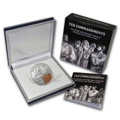 Palau 2 Dollars 1/2oz Silver Proof Coin, 35 mm, 2013, 2nd Ten Commandments