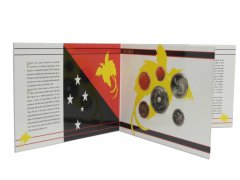 Papua New Guinea 1 Toea - 1 Kina, 6 Piece Coin Set, 1995, Mint, 20th Anniversary