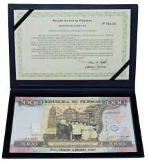 Philippines 2,000 Piso Banknote, 1998, P-189a, UNC, Commemorative Centennial Album