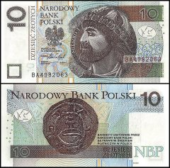 Poland 10 Zlotych Banknote, 2016, P-173b, UNC