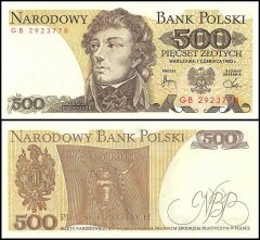 Poland 500 Zlotych Banknote, 1982, P-145d, UNC