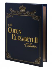 Queen Elizabeth II 12 PCS Banknote Set, 1981-2016, Blue and Gold Album, UNC