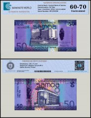 Samoa 50 Tala Banknote, 2014, P-41b, UNC, TAP Authenticated
