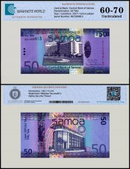 Samoa 50 Tala Banknote, 2017, P-41a, UNC, TAP 60 - 70 Authenticated