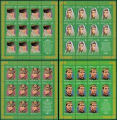 Russia 4 Full Sheet Stamp Set Headdresses of Tatarstan, 2010, ST-7226-29, MNH
