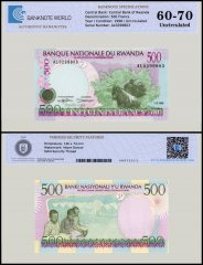 Rwanda 500 Francs Banknote, 1998, P-26a, UNC, TAP 60 - 70 Authenticated