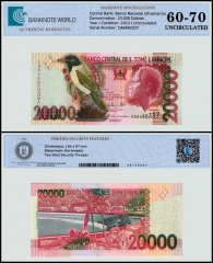 St Thomas & Prince 20,000 Dobras Banknote, 2013, P-67e, UNC, TAP 60 - 70 Authenticated