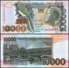 Saint Thomas and Prince 10,000 Dobras Banknote, 2013, P-66d, UNC