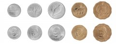 Samoa 10 Sene - 2 Tala 5 Pieces - PCS Coin Set, 2011, KM # 168 - 178, Mint