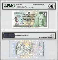 Scotland 1 Pound, 1997, P-359, Commemorative, PMG 66
