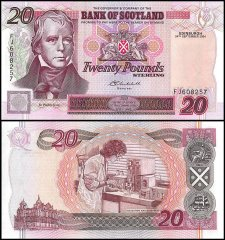 Scotland 20 Pounds Banknote, 2004, P-121e, UNC