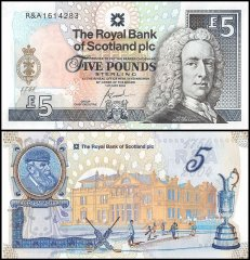 Scotland 5 Pounds Banknote, 2004, P-363, UNC