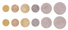 Seychelles 1 Cent - 5 Rupees, 6 Piece Coin Set, 2004-2012, KM # 46-49, Mint