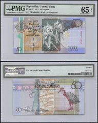 Seychelles 50 Rupees, 2011, P-42, PMG 65