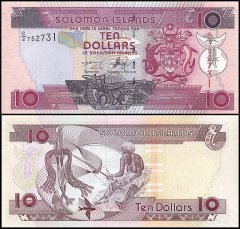 Solomon Islands 10 Dollars Banknote, 2006, P-27, UNC
