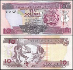 Solomon Islands 10 Dollars Banknote, 2008, P-27, UNC