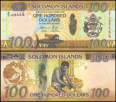 Solomon Islands 100 Dollars Banknote, 2015, P-36, UNC