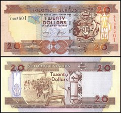 Solomon Islands 20 Dollars Banknote, 2006, P-28, UNC