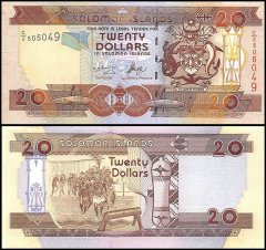Solomon Islands 20 Dollars Banknote, 2006, P-28a, UNC