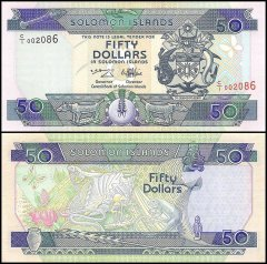 Solomon Islands 50 Dollars Banknote, 1996, P-22, UNC