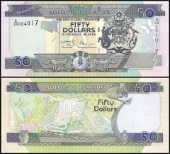 Solomon Islands 50 Dollars Banknote, 2001, P-24, UNC
