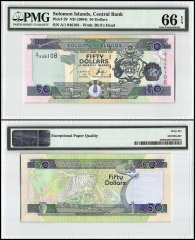 Solomon Islands 50 Dollars, 2004, P-29, PMG 66