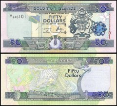 Solomon Islands 50 Dollars Banknote, 2005, P-29, UNC